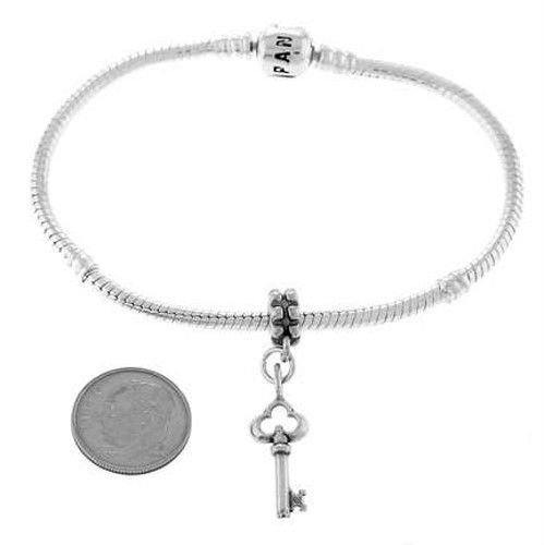 STERLING SILVER ANTIQUE STYLE KEY CHARM