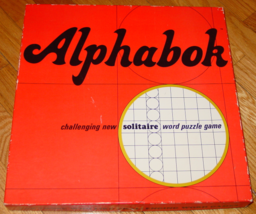 ALPHABOK SOLITAIRE WORD CROSSWORD PUZZLE GAME 1968 SPRINGBOK COMPLETE EX... - $25.00