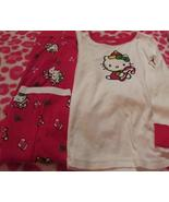 Girls Hello Kitty 2 Piece Christmas Pajama Set SZ 4T Candy Canes NEW - $20.00