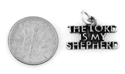 STERLING SILVER THE LORD IS MY SHEPHERD CHARM OR PENDANT