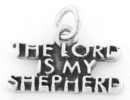 STERLING SILVER THE LORD IS MY SHEPHERD CHARM OR PENDANT image 4