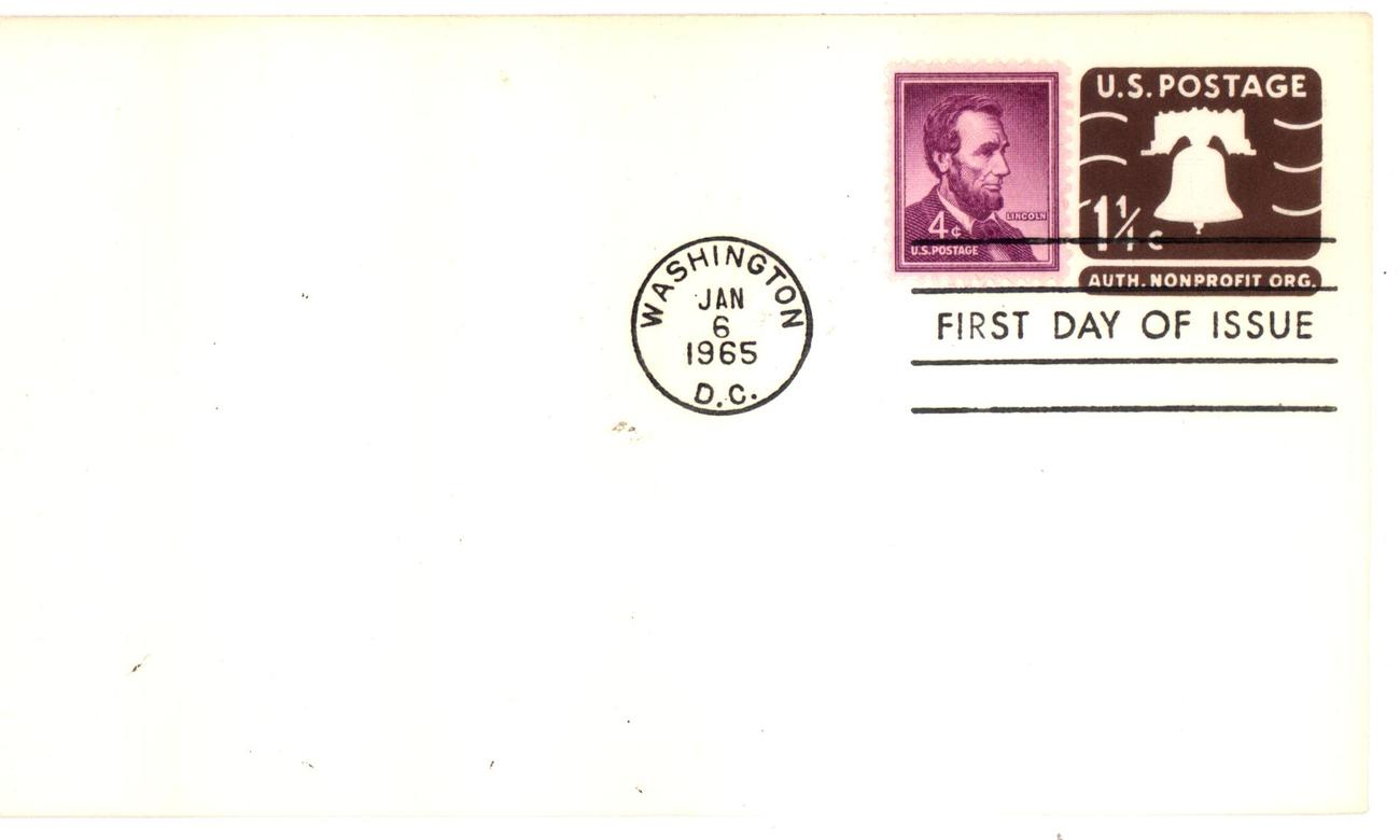 Liberty bell envelope fdc
