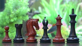 "Caballus Staunton Luxury Chess Pieces in Ebony & Bud Rose Wood - 4.5"" King-VJ017 - $570.99"