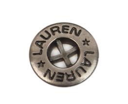 "Org Ralph Lauren Lauren Flat Silver Tone Metal Replacement Button .55"" - $4.90"