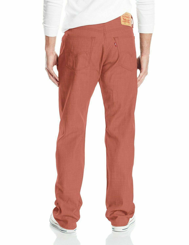 Levi's 501 Men's Original Fit Straight Leg Jeans Button Fly Marsala 501-2223