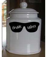 "Sunglasses Chalkboard Vinyl Label Sticker Decals 2""h x 6""w ea. (Quantity... - $29.99"