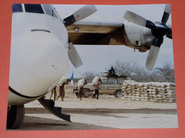Somalia Relief Airlift Military Photo Vintage 1990's United Nations - $39.99
