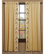 """Cambrie Lane Drapery Panels Yellow with Charming Little Bees 84"""" Long - $39.95"""