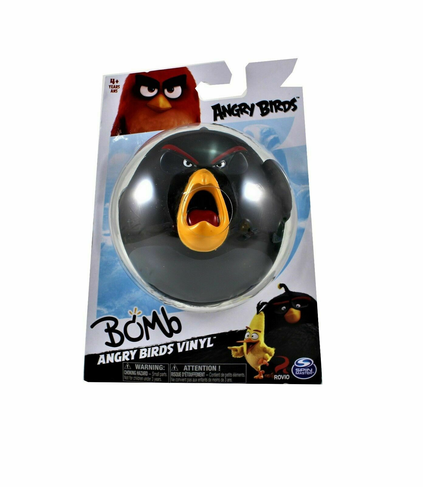 Angry Birds Vinyl Figures Lot of 4 Leonard, Chuck, Bomb and Red New Collectible image 2
