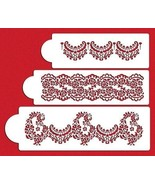 Designer Decorating Stencil Template Pattern Alecon Lace Cake 3-tier Set - $19.99
