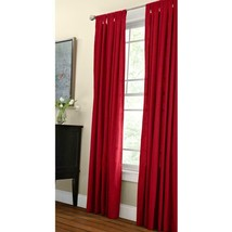 """NEW 2 Pack Red Cotton Duck Light Filtering Window Panels in Red 42"""" x 84"""" - $28.50"""