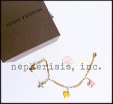 Auth Bnib Louis Vuitton Sweet Monogram Charm Fashion Bracelet Pastel - $550.00