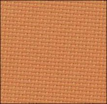 Orange Clementine 14ct Aida 36x43 cross stitch fabric Zweigart - $32.40