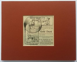 Gold Dust Washing Powder Original 1892 Ad - Matted & Ready-to-Frame... - $10.00