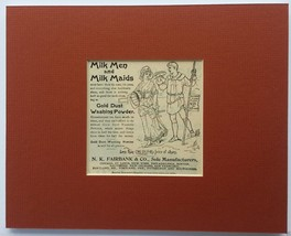 """Milk Men & Milk Maids"" Gold Dust Washing Powde... - $10.00"