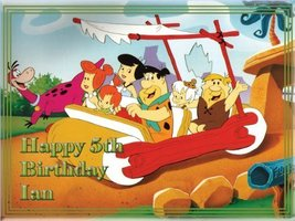 """Single Source Party Supply - Flintstones Edible Icing Image #1-8.25"""" Round [Toy] - $8.99"""