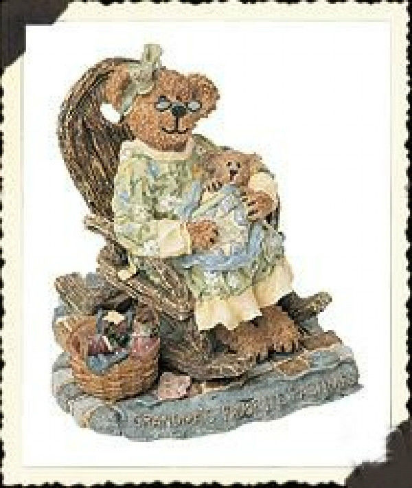 "Primary image for Boyds Bearstone""Grammy Quiltsbeary w/Patches""Longaberger Exclusive #227762LB-NIB"