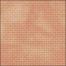 Changing Leaf 14ct Aida Hand Over Dyed 19x17 cross stitch fabric Zweigart - $14.65