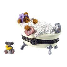 """Boyds Treasure Box """"Bubble's Tubtime W/ Quack Mcnibble"""" #4031608  1 E  2012 - $29.99"""