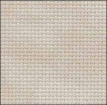 Historic Beige 14ct Aida Hand Over Dyed 35x19 cross stitch fabric Fabric... - $29.70