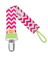 Pink Chevron Personalized Pacifier Clip - Pink, Girls - $6.95