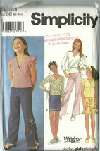 Simplicity Sewing Pattern 7193 Girls Top Pants Skirt Size 8.5 - 16.5 Uncut - $9.98