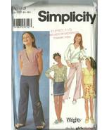 Simplicity Sewing Pattern 7193 Girls Top Pants Skirt Size 8.5 - 16.5 Uncut - $9.98