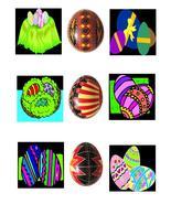 Easter EggsB43-Digital Download-ClipArt-ArtClip... - $3.85