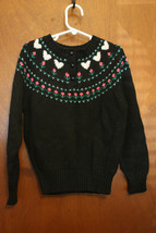 Vintage Northern Isles Black Sweater - Size Girls Small - $18.99