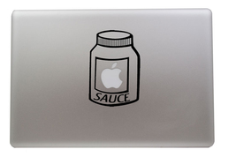 Apple Sauce Vinyl Decal Laptop Macbook Sticker - $5.00