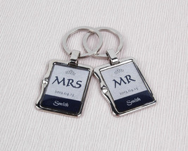 Wedding Keychains - Custom Couples Keyrings - U... - $34.95