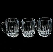 3 (Three) Mikasa Park Lane Cut Lead Crystal Mugs Discontinued - $124.99
