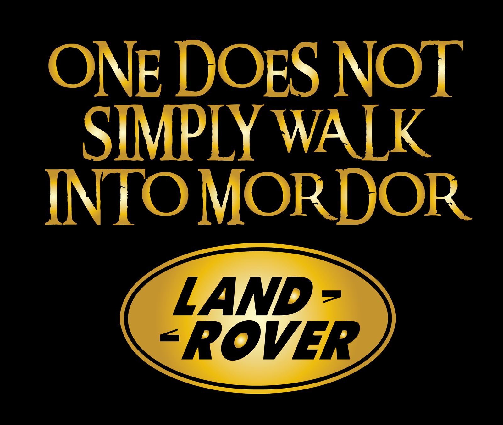 "Men's""one does not simply walk into mordor"" Land rover ..."