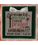 For This Child cross stitch chart Cherry Hill Stitchery - $7.20