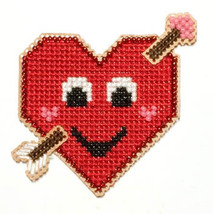 Love Buddy Kit valentine cross stitch kit Flowers 2 Flowers - $8.00