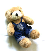 Lovely Teddy Bear in Navy Dungarees - $9.00