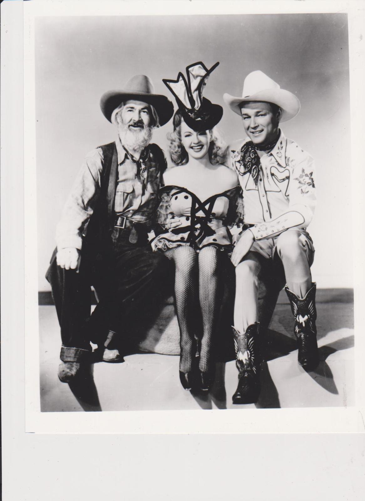 Primary image for Roy Rogers Gabby Hayes 100 Vintage 8X10 BW Country Music Memorabilia Photo