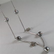 STAINLESS STEEL NECKLACE WITH GREY PEARLS, FLOWER AND HEART CHARMS 28.75 IN LONG image 7