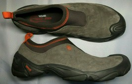 TEVA Mountain Scuff Shoes US 13 Slip On Suede Leather Gray Hiking Spider... - $42.06