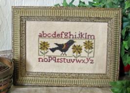 Blackbird Sampler cross stitch chart From The Heart  - $5.00