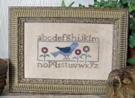 Bluebird Sampler cross stitch chart From The Heart  - $5.00