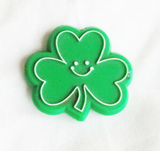 Hallmark St. Patrick Day Pin shamrock smiling - $3.75