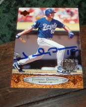 JOHNNY DAMON SIGNED 1996 UPPER DECK BASEBALL CARD - $9.50
