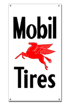 "Mobil Pegasus Tires 30"" Metal Sign Vintage Retr... - $79.95"