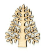 Tree Unfinished Wood Shape Craft Laser Cut Out ... - $1.40 - $81.20