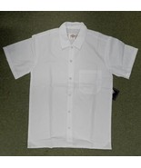 Dickies White Snap Front Chef Server Restaurant Uniform SS Shirt New XL - $14.67