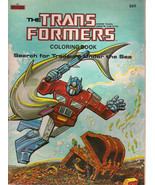 TRANSFORMERS COLORING BOOK (1984) Marvel Books (nothing colored inside!)... - $14.84