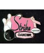 Breast Cancer Pink Ribbon Bowling Ball Strike Against Cancer Lapel Pin T... - $13.69
