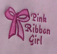 Breast Cancer Pink Ribbon Girl Bow Pink Crew Neck Sweatshirt Medium Unisex New - $23.97