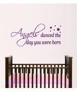 Angels Danced The Day You Were Born ~ Wall Decal, Angels - $16.13+